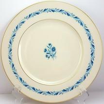 "Lenox Blueridge Dinner Plate Ivory Blue Floral Scrolls Gold Trim 10.5"" - $8.91"