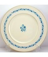 "Lenox Blueridge Dinner Plate Ivory Blue Floral Scrolls Gold Trim 10.5"" - $8.91"