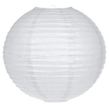 25.4cm weiß Kreis rund Papierlaterne Lampenschirm Feier,Haus hängende De... - $3.88+