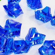 150pcs Acrylic Crystal Ice Rock Stones Aquarium Vase Gems Table Decorating Blue - $6.48