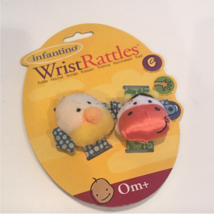 Infantino WRIST RATTLES COW & CHICK Baby Rattle toys - $12.99
