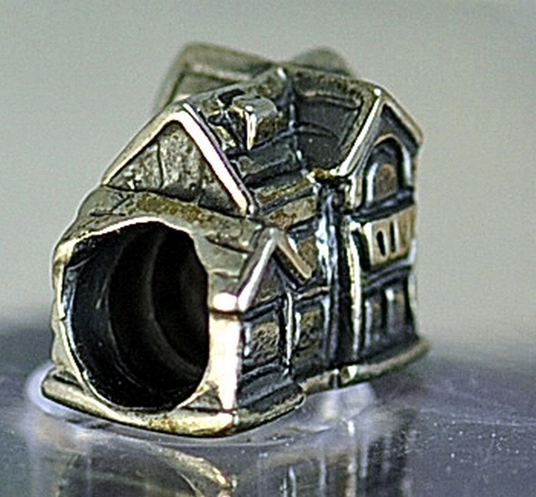 Cozy Family Love Home House Charm European bead for jewelry Real Sterling Silver