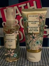 New Bath Body Works Whipped Vanilla Chiffon Body Mist & Cream Travel Siz... - $48.08