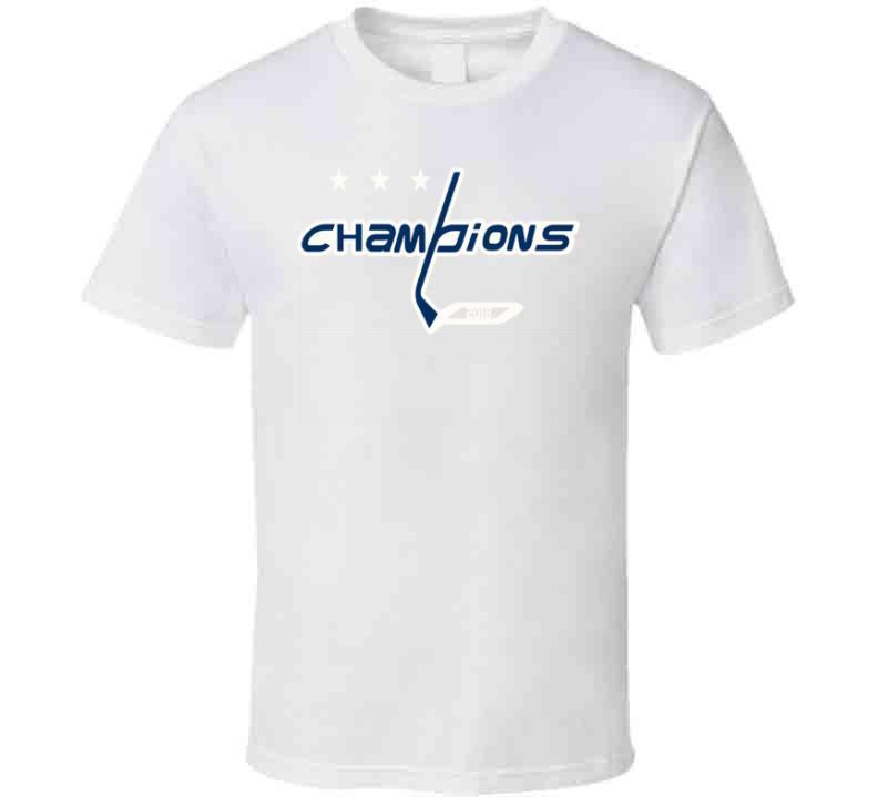 Washington Hockey Team Champions Mash up Hockey Fan  T Shirt