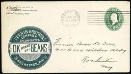 OK Brand of Beans 1893 Rochester, NY Advertising Cover - Stuart Katz - $45.00