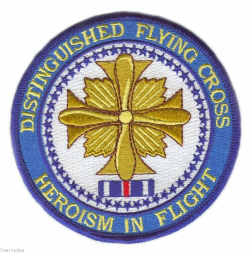 "Primary image for DISTINGUISHED FLYING CROSS MEDAL PATCH  4"" EMBROIDERED MILITARY  PATCH"