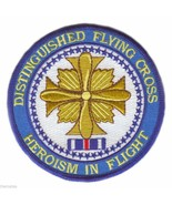 """DISTINGUISHED FLYING CROSS MEDAL PATCH  4"""" EMBROIDERED MILITARY  PATCH - $18.04"""