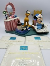 WDCC Disney First Aiders - Minnie Nurse,  Pluto,  Figaro and Base w/COA's - $371.20