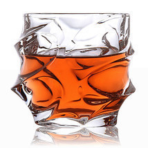 2pcs Spin Wave Whisky Glass Whiskey Tumbler Rum Scotch Spirit Liquor Fac... - $39.59 CAD