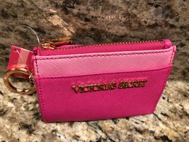VICTORIA'S SECRET Pink Coin Purse Keychain With Key Fob Limited Edition!  - $5.89