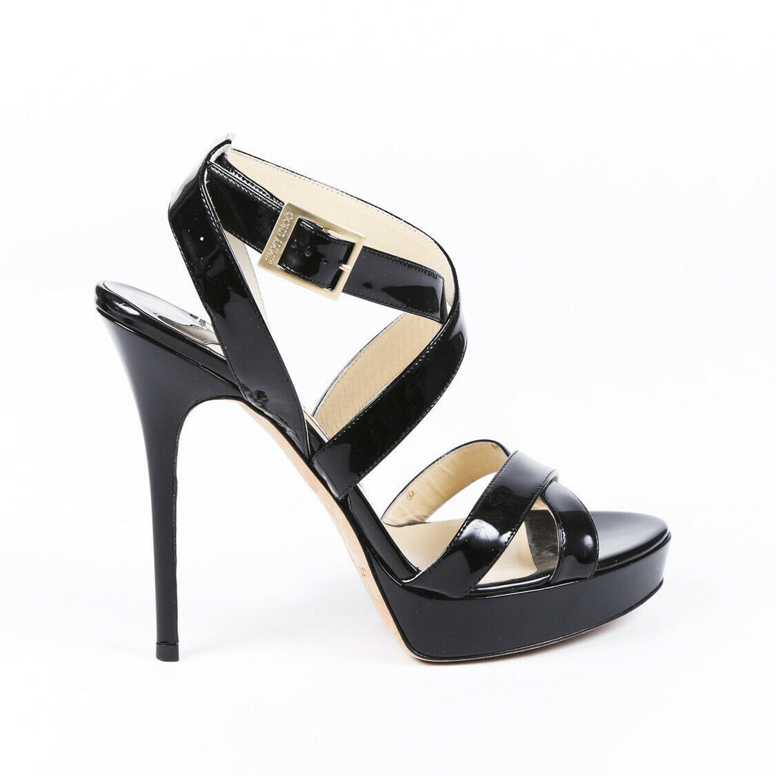 Primary image for Jimmy Choo Louisa Patent Leather Platform Sandals SZ 40