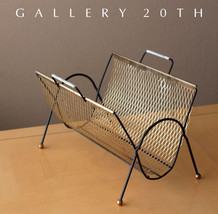 VTG ATOMIC MODERN MAGAZINE RACK! 50s 60s Mid Century Interior Design Bra... - $270.00