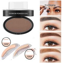 Natural Eyebrow Powder Makeup Brow Stamp Palette Delicated Shadow Defini... - $11.98