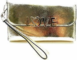 Victoria's Secret Love Tech Wallet Clutch Gold NWT - £32.01 GBP