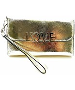 Victoria's Secret Love Tech Wallet Clutch Gold NWT - $42.06