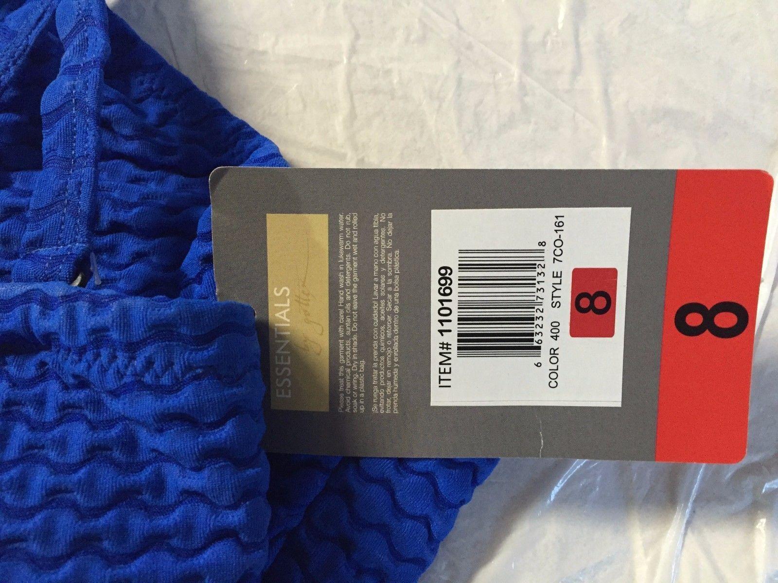 ESSENTIALS BY GOTTEX Women's NWOT Blue Texture Underwire 1-Piece Swimsuit