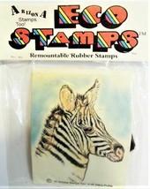 Eco Stamps Zebra Profile Remountable Rubber Stamp #H-49