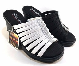 Skechers 38562 Memory Foam Wedge Platform Slip On Sandals Choose Sz/Color - $40.50+