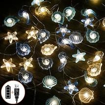 Nautical Beach Decor led String Lights Under The sea Coastal Ocean Theme Navy Fi image 1