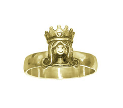 24K Gold Plated Daddy's Little Princess Queen Crown Mommy's Daughter Ring - $33.82
