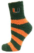 University of Miami Licensed Stripe Fuzzy Socks - $12.95