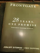 FRONTGATE CATALOG AUGUST 2019 28 YEARS OF PROMISE BEST MATERIALS BEST DE... - $9.99