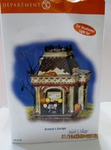 DEPT 56 HALLOWEEN SNOW VILLAGE GRIMSLY'S GARAGE    NEW (3) - £50.64 GBP