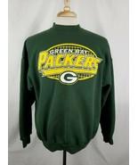 Vintage Logo 7 Green Bay Packers Sweatshirt Long Sleeve Crew 50/50 Distr... - $13.99