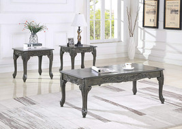 Roundhill Furniture OS0017GY 3 Piece Wood Coffee and End Table Set, Gray - €430,09 EUR