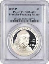 2006-P Ben Franklin-Founding Father $1 PCGS Proof 70 DCAM - $101.85