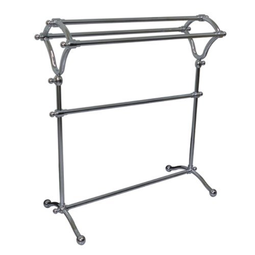 Kingston Brass SCC2281 Pedestal Y-Type Towel Rack, Polished Chrome