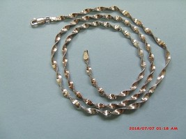 """Sterling Silver Vintage 20"""" Twisted Herringbone 3MM Wide Chain Ibb Italy - $25.00"""