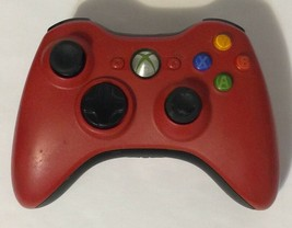 Microsoft Xbox 360 Wireless Controller Red Tested and Working Authentic ... - $17.81