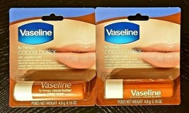 2-PACK VASELINE LIP BALM THERAPY COCOA BUTTER STICKS SAME-DAY SHIP - $6.85