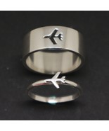 Plane Couple Promise Ring Set  - $83.00