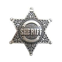 An item in the Fashion category: New Vintage Silver Plated Western Sheriff Star Belt Buckle Gurtelschnalle