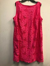KARIN STEVENS WOMEN'S LACE DRESS SLEEVELESS PINK , SZ 22W - $33.24