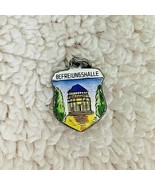 Vintage 800 Silver Enamel Travel Charm Shield Befreiungshalle Building D5 - $18.32
