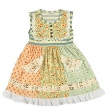 NWT Boutique Girls Multi Print Ruffle Dress 6-7 - $16.99