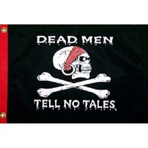 Pirate Flag Dead Men Tell No Tales Skull and Crossbones Jolly Roger Styl... - $10.84