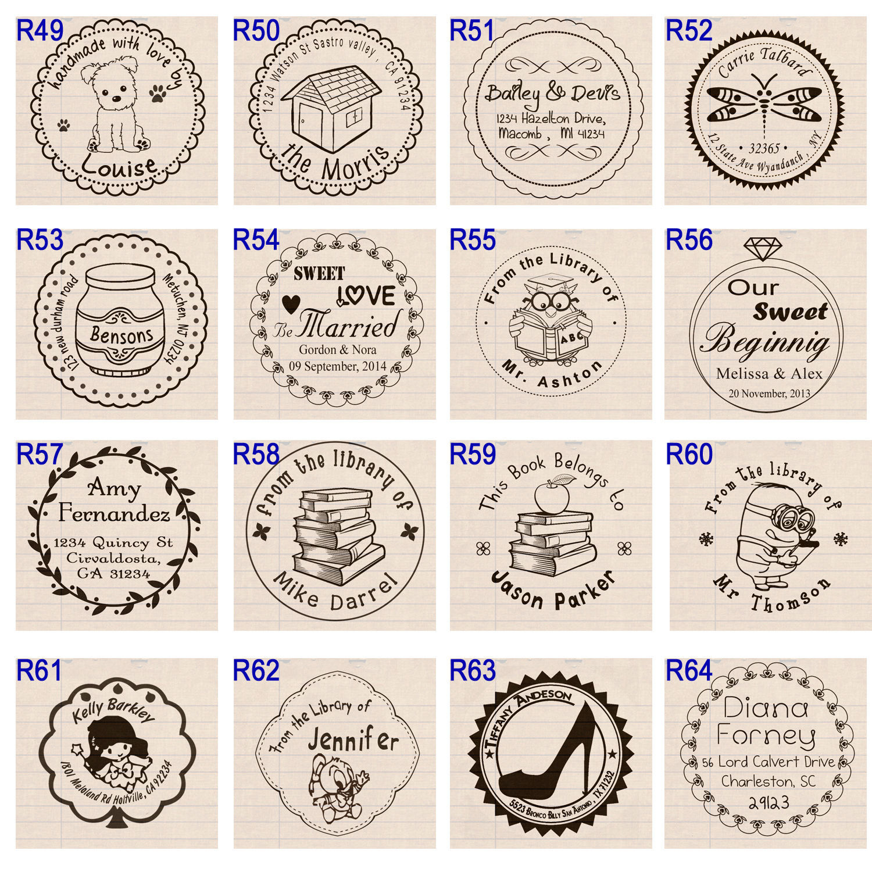 "custom name self inking business family wedding return address rubber stamp 1.5"""