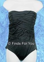 J Crew Asymmetrical Ruched Bandeau Bathing Suit Swimsuit Tank Size 2 Style 34282 - $27.59