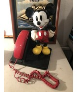 Vintage Disney MICKEY MOUSE PHONE 1990's Desk Telephone Push Button - $34.60