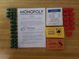 Monopoly Board Game  Replacement Pieces Bundle (All Cards, Houses, Instr... - $5.44