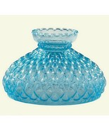 82948aaa blue glass diamond quilted 10 inch student lamp shade thumbtall