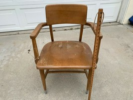 Vtg 1960s Wood Library Chair Office Desk Chair Retro MCM Furniture Mid C... - $123.75