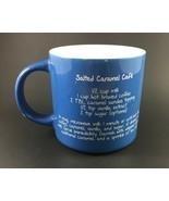 Mr. Food Salted Caramel Cafe' Recipe Coffee Mug Blue - $10.00