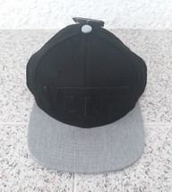 Vans Black Cap Grey Casual Hat 100% Cotton Adults One Size  Flat Brim 6 ... - $24.23
