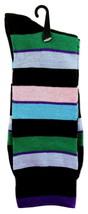 Goldstar Mens Striped Socks Casual Fun Color Combo 5 Cotton Blend Crew Sock - $12.95