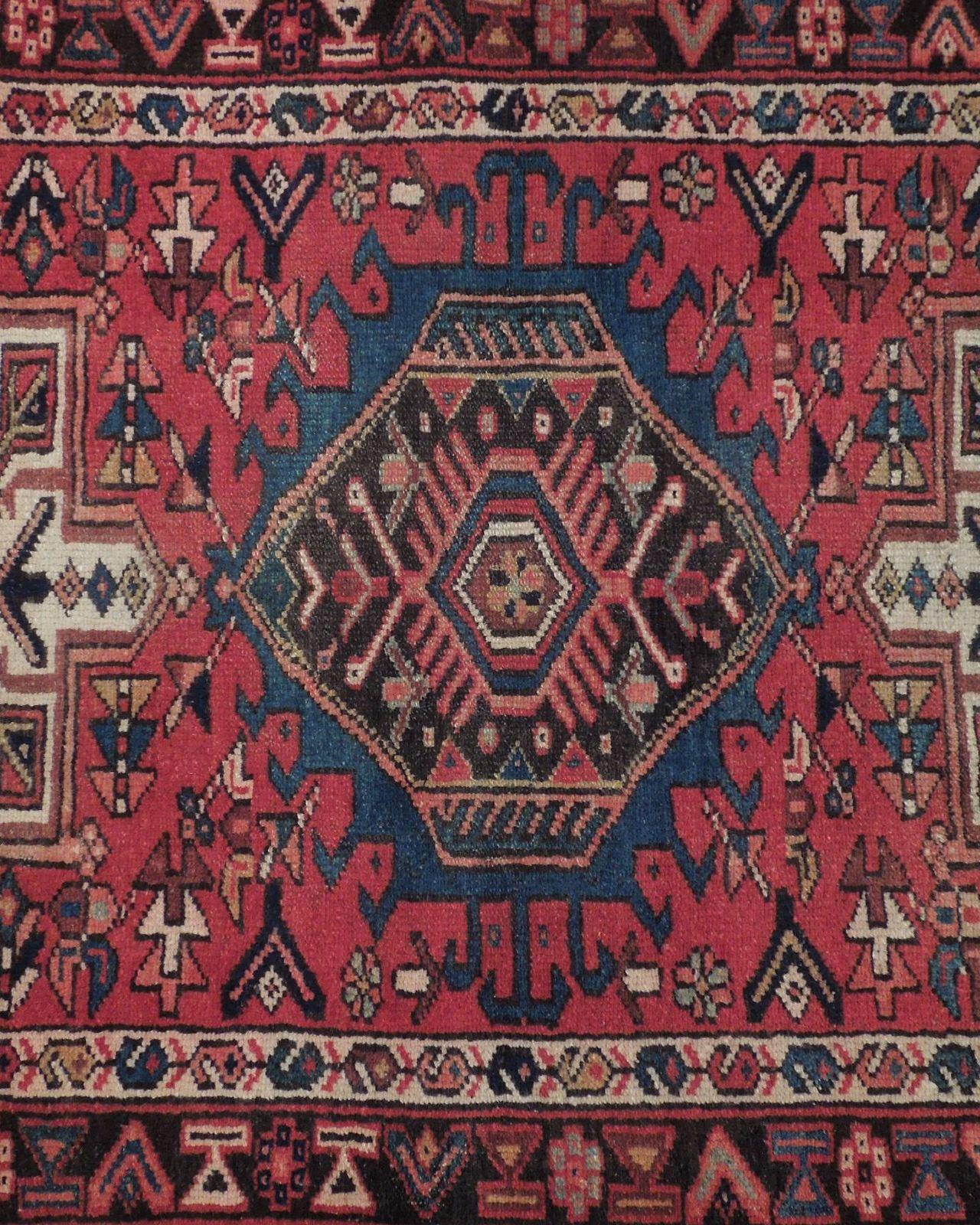 Red 3 x 13 All-Over Classic Tribal Design Runner Karaja Persian Handmade Rug image 11